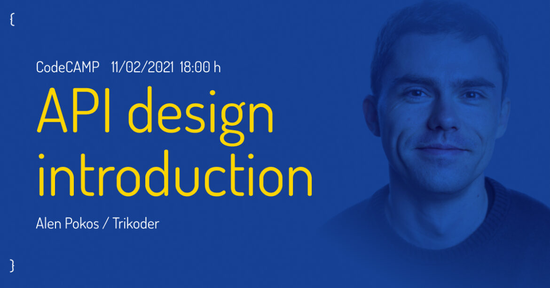 CodeCAMP — API design introduction